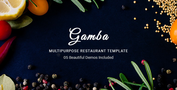 Gamba – Food & Restaurant & Coffee HTML Template
