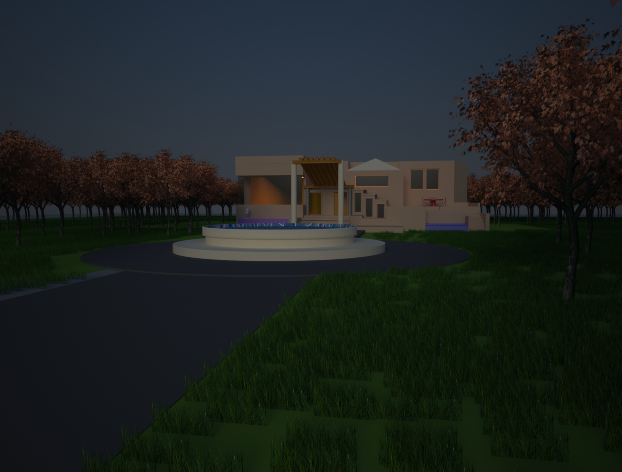 3D house with exterior design