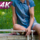 Girl on a Walk in the Park - VideoHive Item for Sale