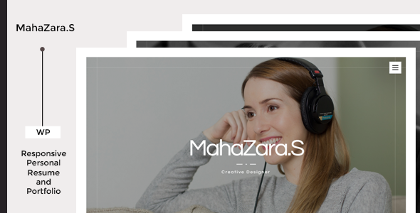 Mahazara.S Personal Resume and Portfolio Theme