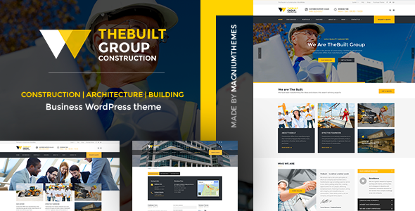 TheBuilt – Construction, Architecture & Building Business WordPress theme