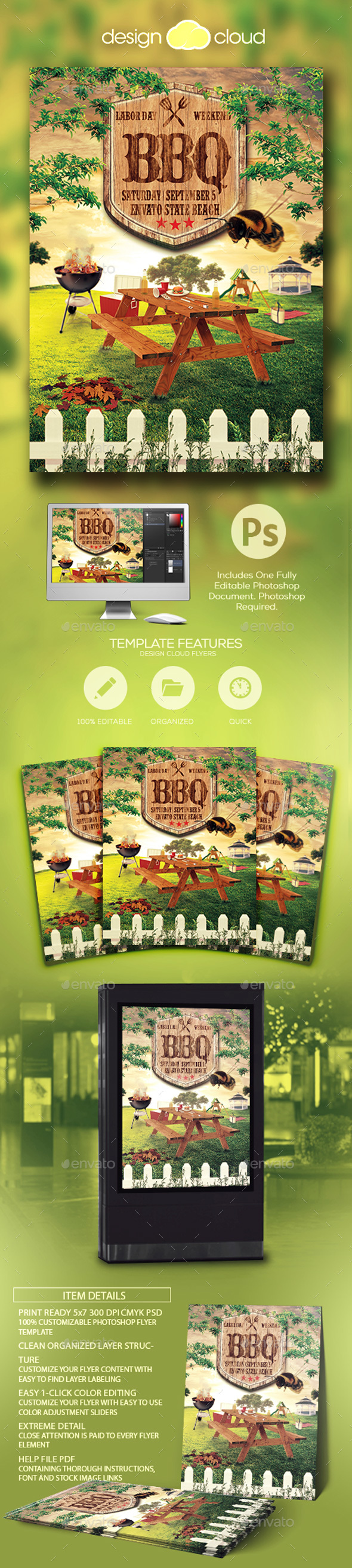Summer Picnic BBQ Template - Events Flyers