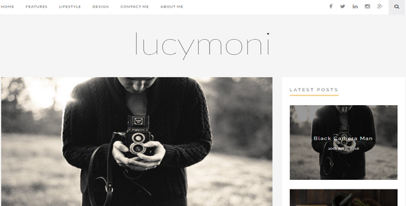 Lucymoni |  Responsive WordPress Blogging Theme