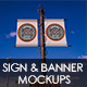 Banners and Signs Mockup Templates  - GraphicRiver Item for Sale