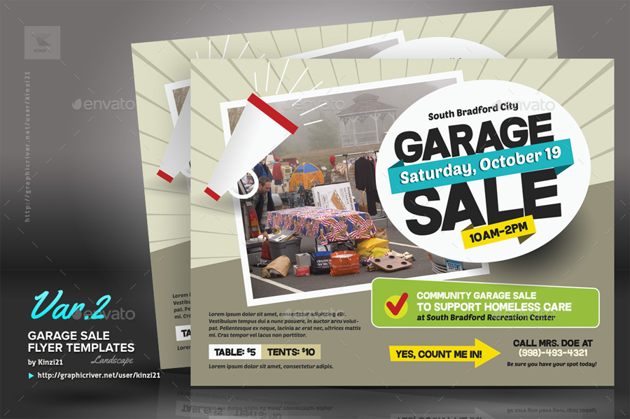 Garage Sale Flyer Templates By Kinzi21 | Graphicriver