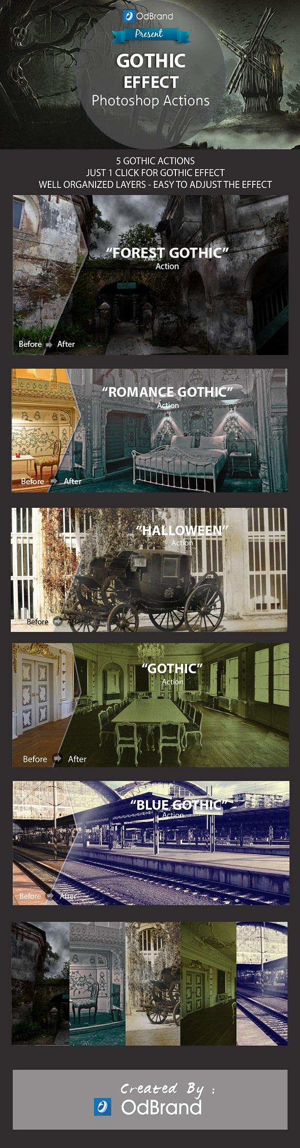 Gothic Effect Photoshop Action - Actions Photoshop