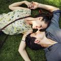 Laying Down Couple Destiny Relationship Relax Concept