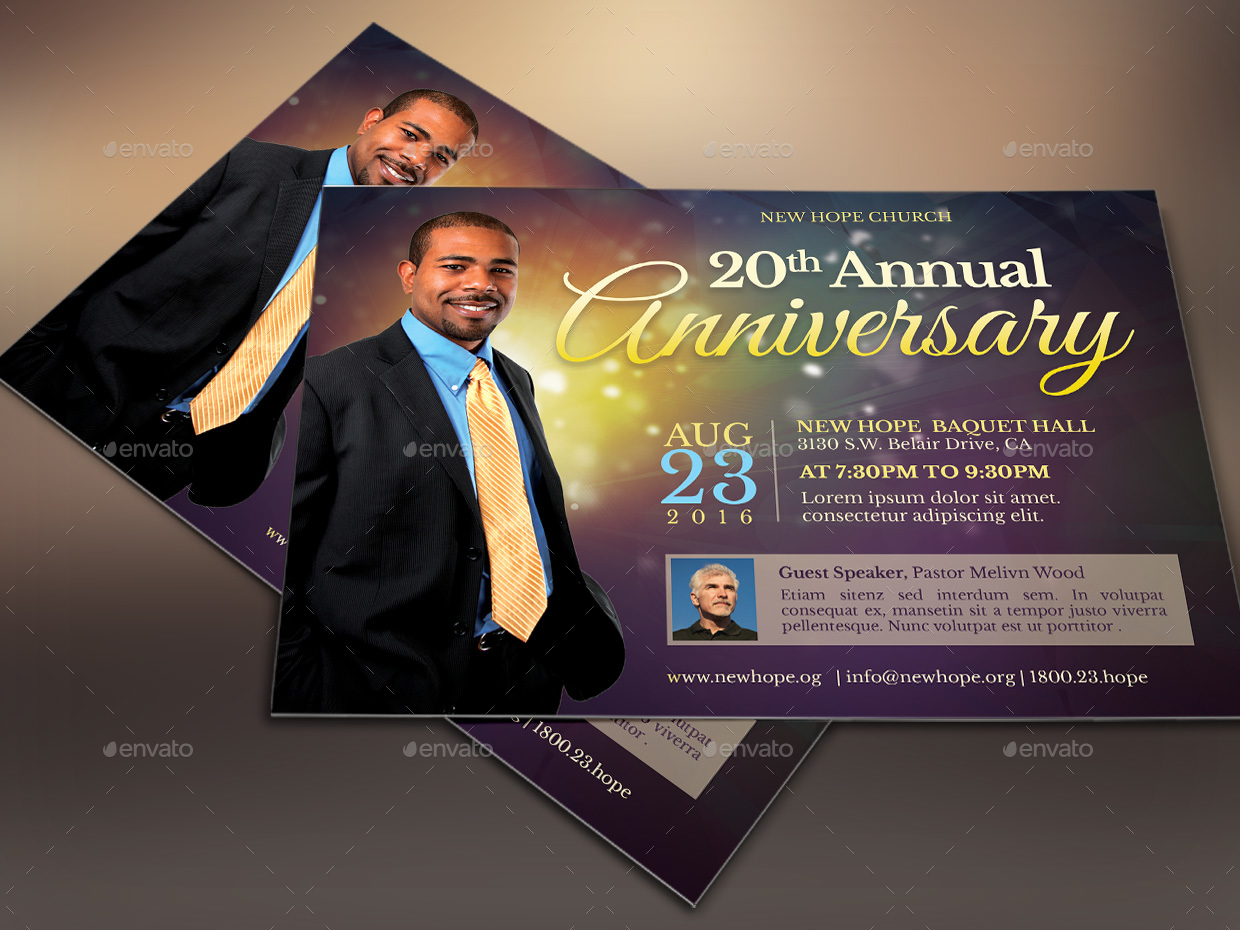 Starlight Pastor Anniversary Flyer Template by 4cgraphic2 ...