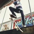 Skateboarder Trick Leisure Male Teenage Concept