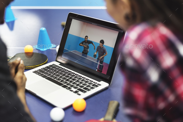 Activity Friends Playing Tabletennis Concept - Stock Photo - Images
