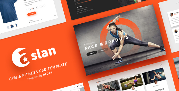 ASLAN | Gym & Fitness PSD Template