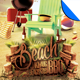 Summer Beach BBQ Flyer Template