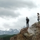 Two People Standing On Top Of a Mountain - VideoHive Item for Sale