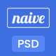 Naive - App Landing PSD Template - ThemeForest Item for Sale