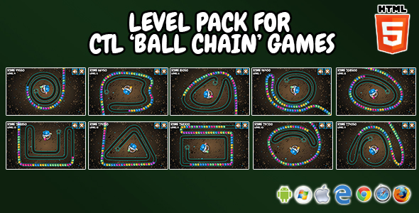 "Extra Levels Pack for CTL ""Ball Chain"" Games - CodeCanyon Item for Sale"