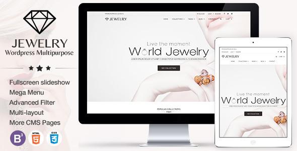 Wordpress Theme Template | Jewelry Responsive Wordpress Theme By Tvlgiao Themeforest