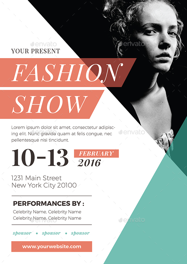 Fashion show flyer by vynetta graphicriver for Fashion flyers templates for free