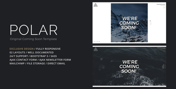 POLAR – Original Coming Soon Template
