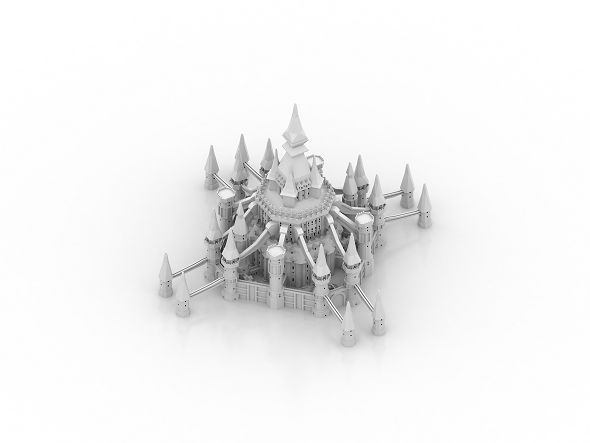 Castle Model - 3DOcean Item for Sale
