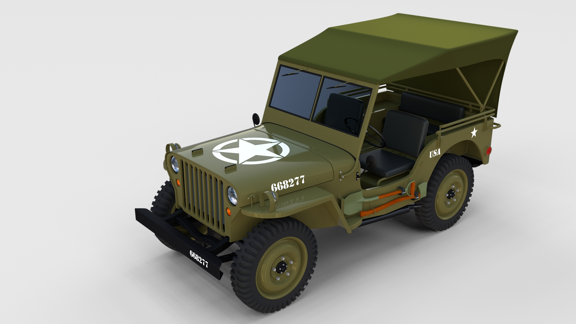 full w chassis jeep willys mb military top rev by. Black Bedroom Furniture Sets. Home Design Ideas