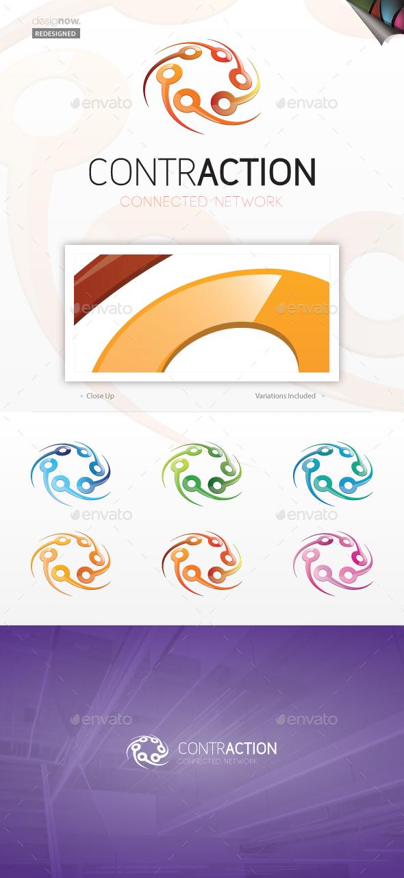Contraction Logo - Abstract Logo Templates