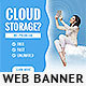 Cloud Hosting Banner Ad - GraphicRiver Item for Sale
