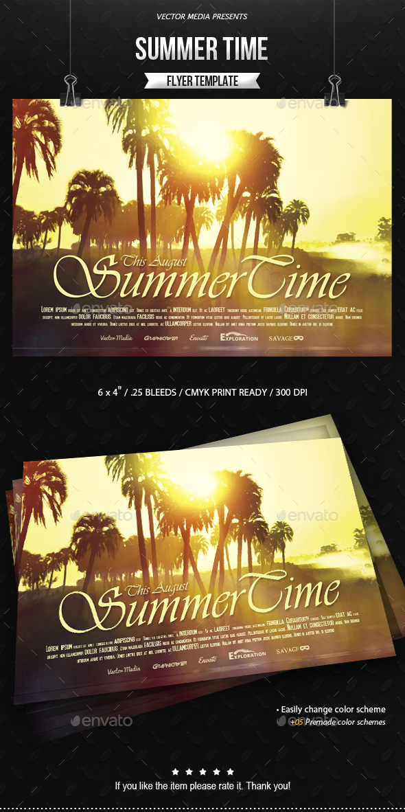 Summer Time - Flyer - Holidays Events