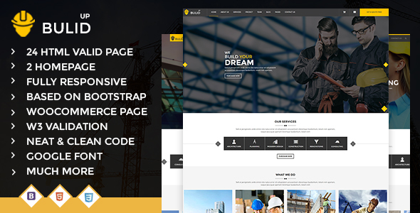 Build Up – Construction & Renovation HTML Template