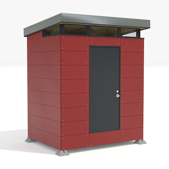 Modern Storage Shed - 3DOcean Item for Sale