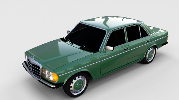 Mercedes-Benz W123 rev - 3DOcean Item for Sale