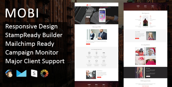 MOBI - Multipurpose Responsive Email Template + Stampready Builder - Email Templates Marketing