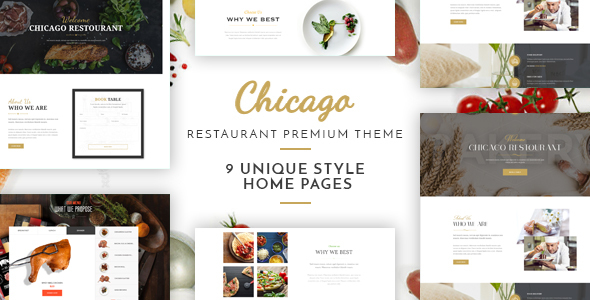 Chicago - Multi-Purpose Restaurant Template - Restaurants & Cafes Entertainment