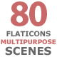 Flat Icons Multipurpose Scenes - VideoHive Item for Sale