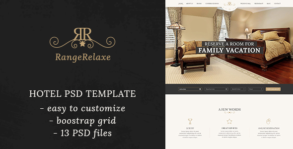 RangeRelaxe – Hotel & Resort HTML Template