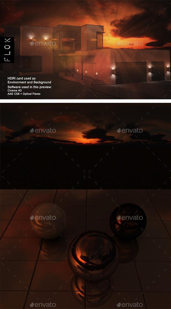 Sunset Desert 70 - 3DOcean Item for Sale
