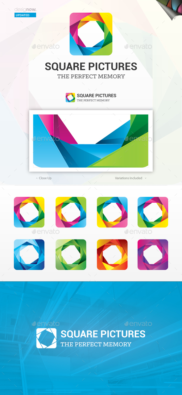 Square Pictures Logo - Abstract Logo Templates