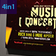 4 in 1 Music Flyer Bundle - GraphicRiver Item for Sale
