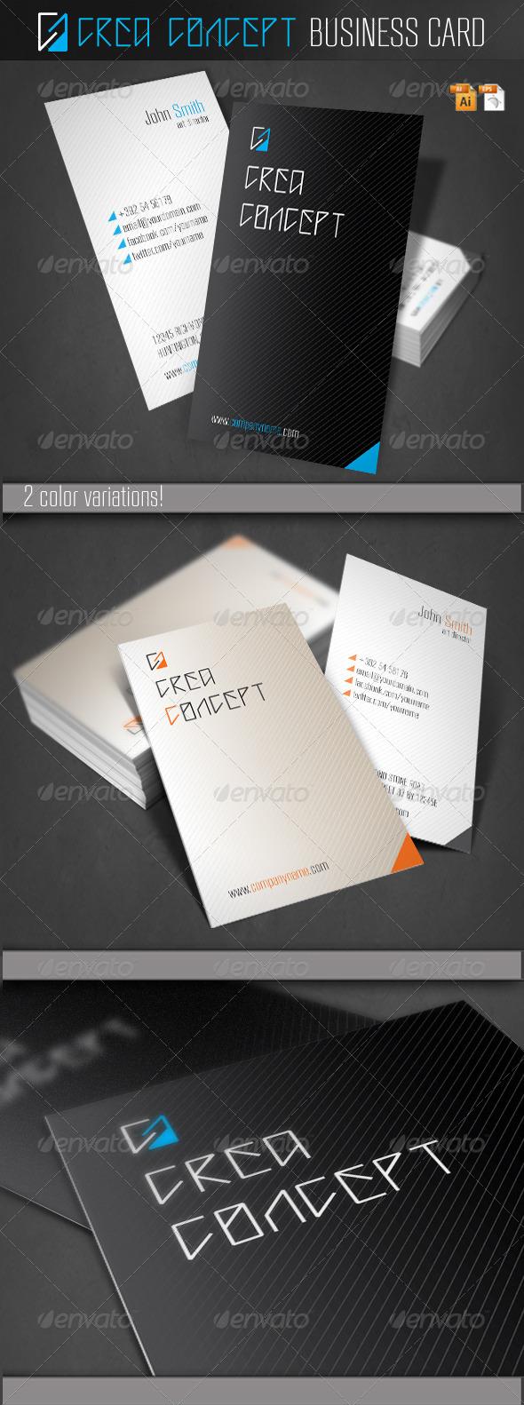 Crea Concept Business Card - Corporate Business Cards