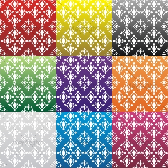 Color vector seamless backgrounds (set) - Backgrounds Decorative