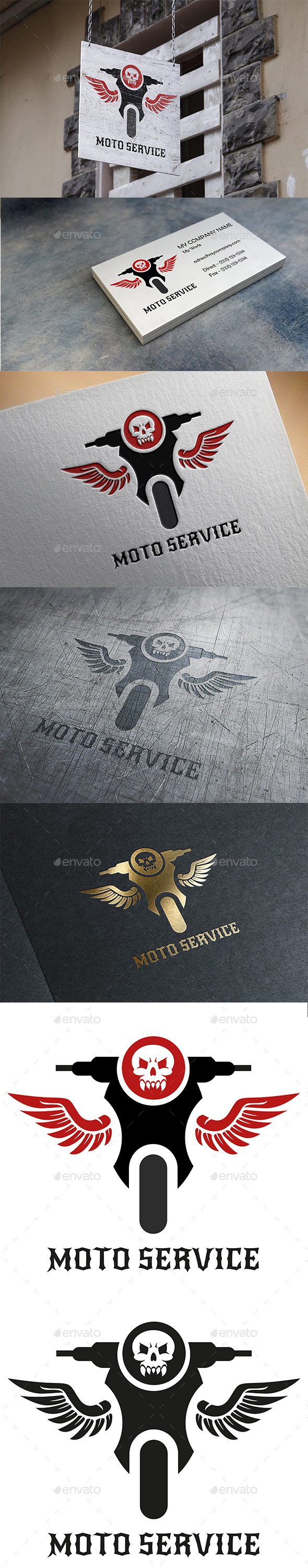 Moto Service Logo - Vector Abstract