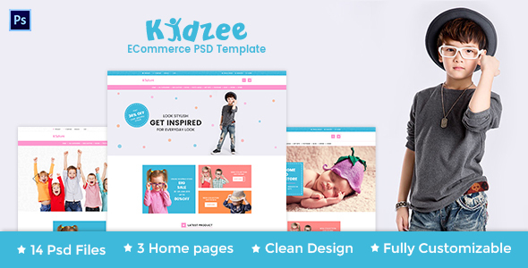 KIDZEE - eCommerce PSD Template - Shopping Retail