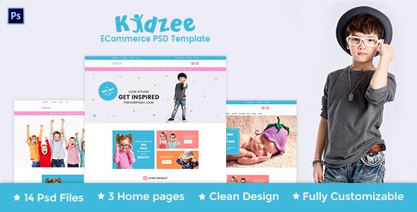 KIDZEE – eCommerce PSD Template