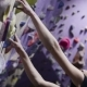 Climbing Gym. Teenage Girl On The Route - VideoHive Item for Sale