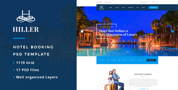 Hiller – Responsive Booking Hotel WordPress Theme