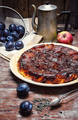 Seasonal pie with plums