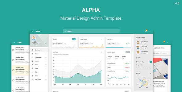Alpha – Material Design Admin Template