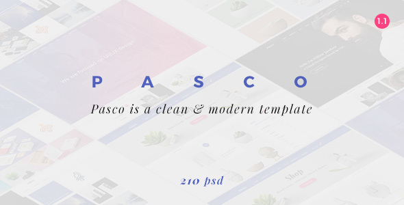 PASCO | Responsive Multi-Purpose PSD Template - Portfolio Creative