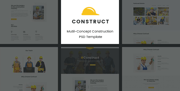 Construct | Mutil-Concept Construction PSD Template