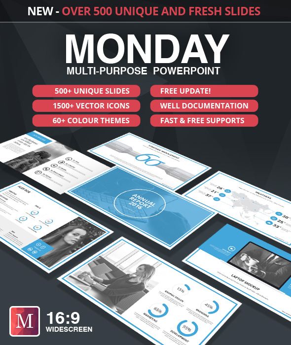 Monday powerpoint template by factory738 graphicriver monday powerpoint template powerpoint templates presentation templates toneelgroepblik Images