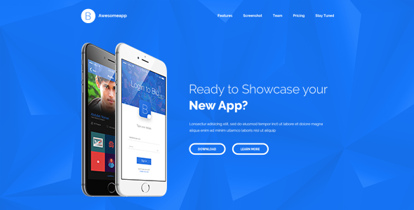 Blu - Bootstrap Minimal App Landing Page HTML by ShapeSquare